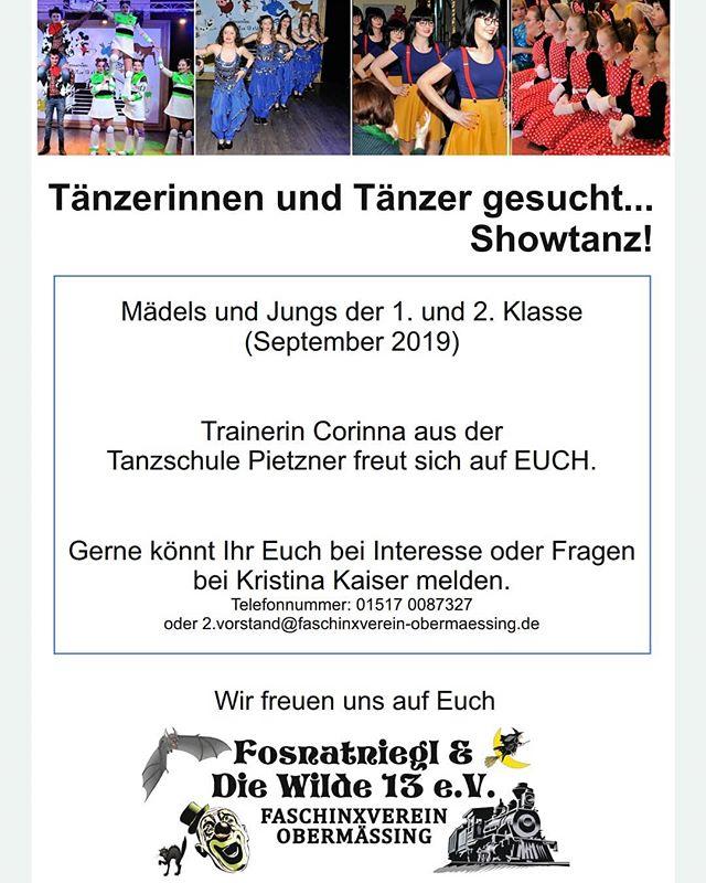 Neue Tanzgruppe zur Saison 2019/2020. Teilen erlaubt  #werbung #Nachwuchs #tanzen #fasching #showtanz #auflosgehtslos #obermässing